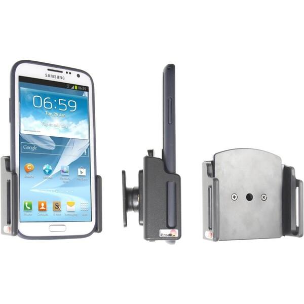 Brodit držák do auta na mobilní telefon nastavitelný, bez nabíjení, š. 75-89 mm, tl. 6-10 mm 511479 Černá