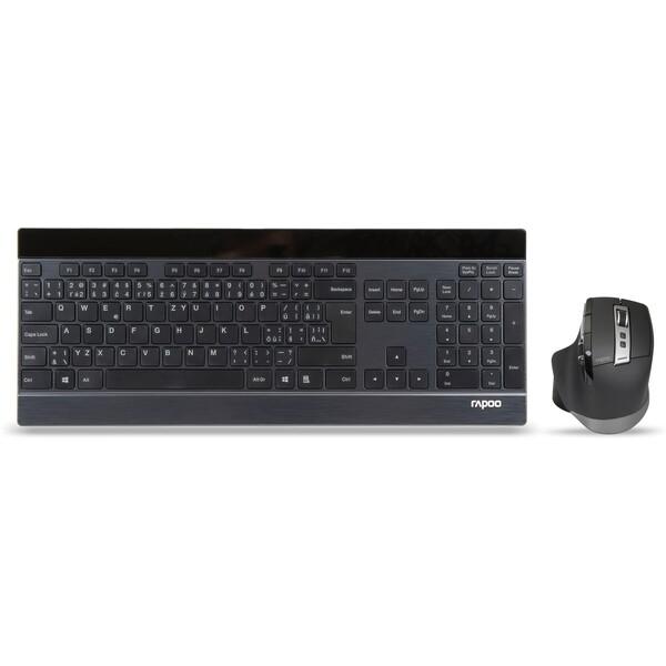 Rapoo 9900M set bezdrátové klávesnice a myši černý