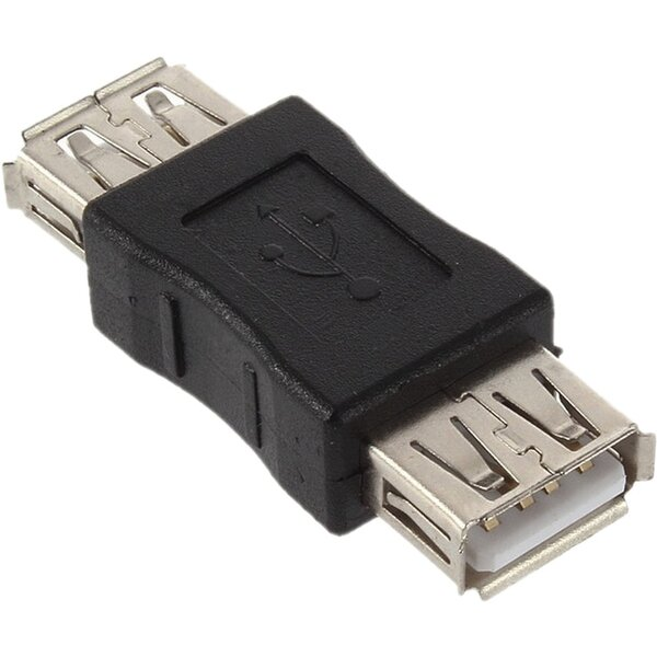 PremiumCord USB redukce A-A, Female/Female - kur-4 Černá