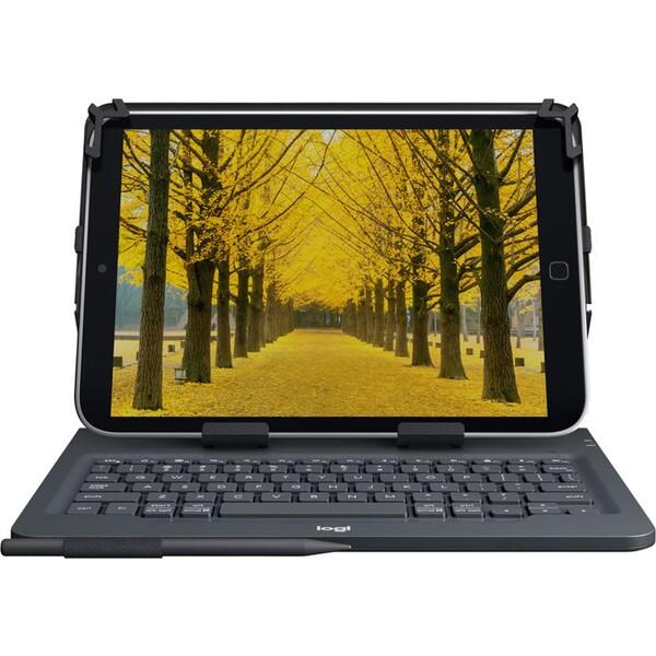 Logitech Universal pouzdro s klávesnicí pro tablet černé UK