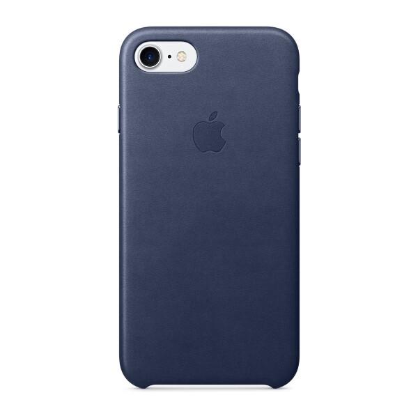 Pouzdro APPLE iPhone 7 Leather Case Půlnočně modrá