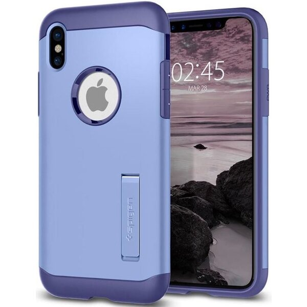 Spigen Slim Armor, violet - iPhone X Fialová