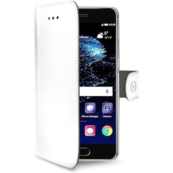 CELLY Wally Huawei P10 Lite PU kůže bílé