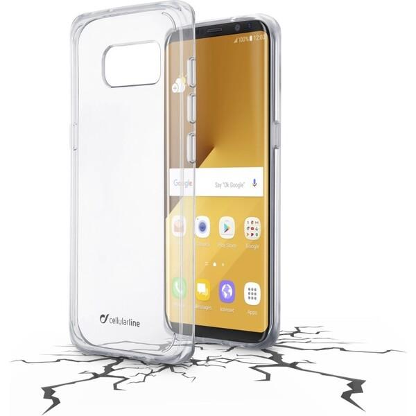 Pouzdro CELLULARLINE CLEAR DUO Samsung Galaxy S8 Plus čiré Čirá