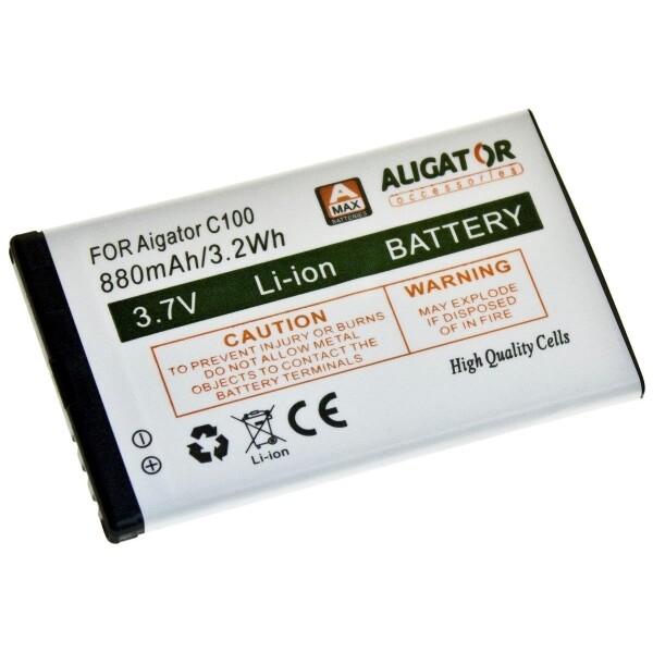 Baterie Aligator C100BAL Bílá