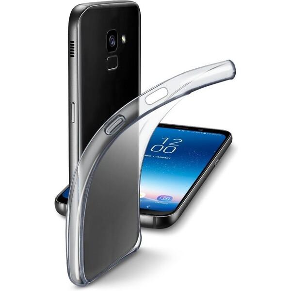 Pouzdro CellularLine Fine extratenké Samsung Galaxy A8 2018 bezbarvé Čirá