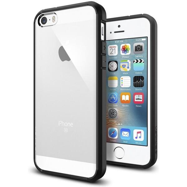 Pouzdro SPIGEN Ultra Hybrid iPhone 5/5S černé Černá