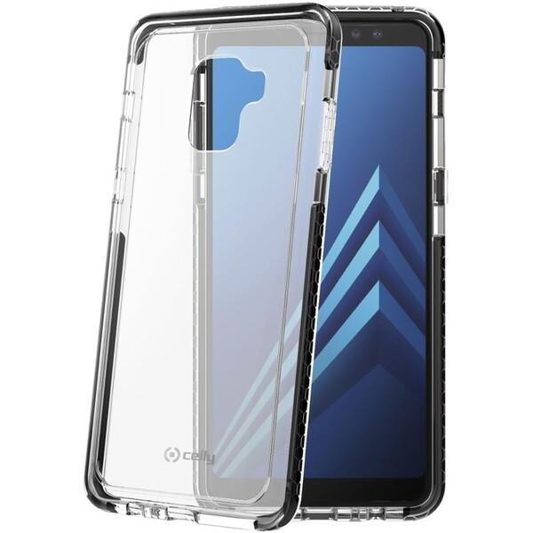 Pouzdro CELLY Hexagon Samsung Galaxy A8 Plus (2018) černé HEXAGON707BK Černá