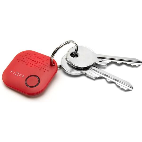 Přívěsek na klíče Key finder Fixed Smile červený Červená