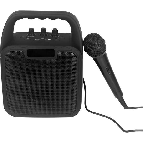 CELLY Party bezdrátový reproduktor s karaoke mikrofonem černý