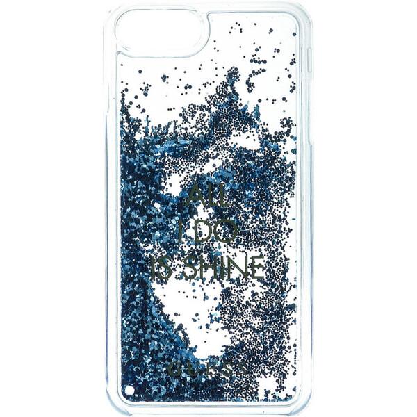 Pouzdro Guess Liquid Glitter Hard Shine iPhone 6/6S/7 modré Modrá
