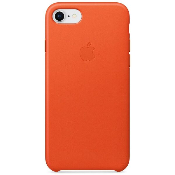 Pouzdro Apple iPhone 8 / 7 Leather Case Jasně oranžová