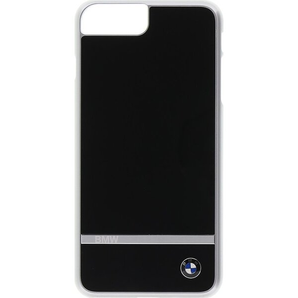 Pouzdro BMW Signature Aluminium Stripe iPhone 7/8 Plus Černá