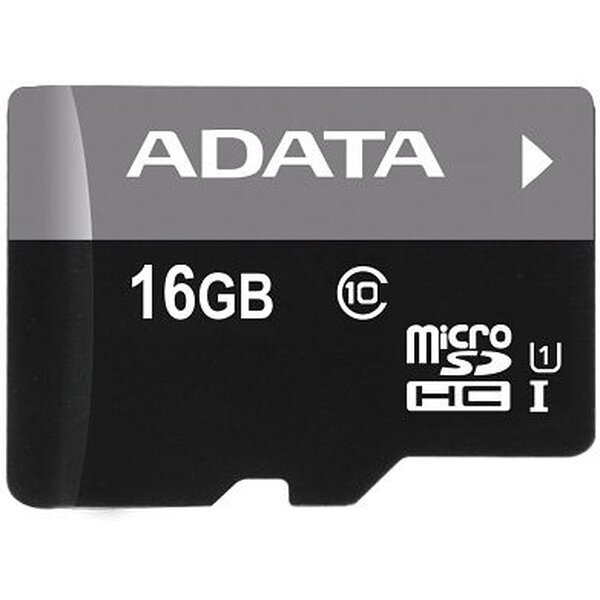 ADATA Premier microSDHC 16GB Class 10 + adaptér AUSDH16GUICL10-RA1 Černá