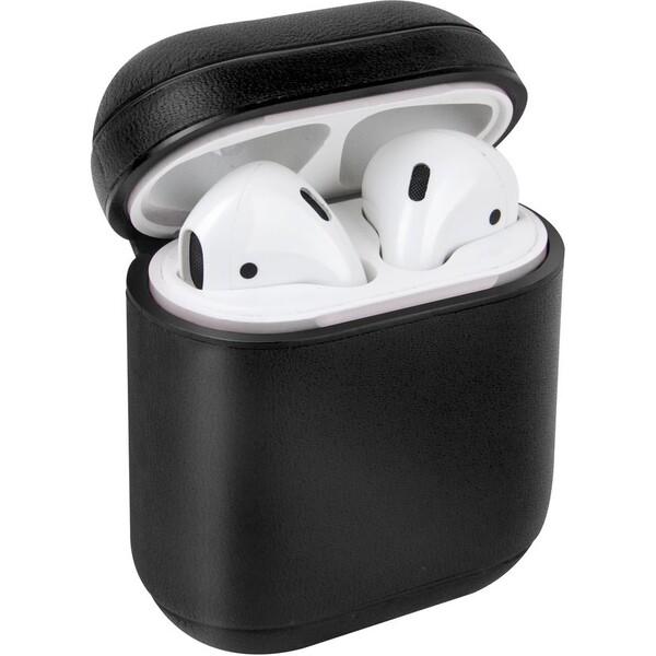 UNIQ Terra kožené ochranné pouzro pro Apple AirPods černé