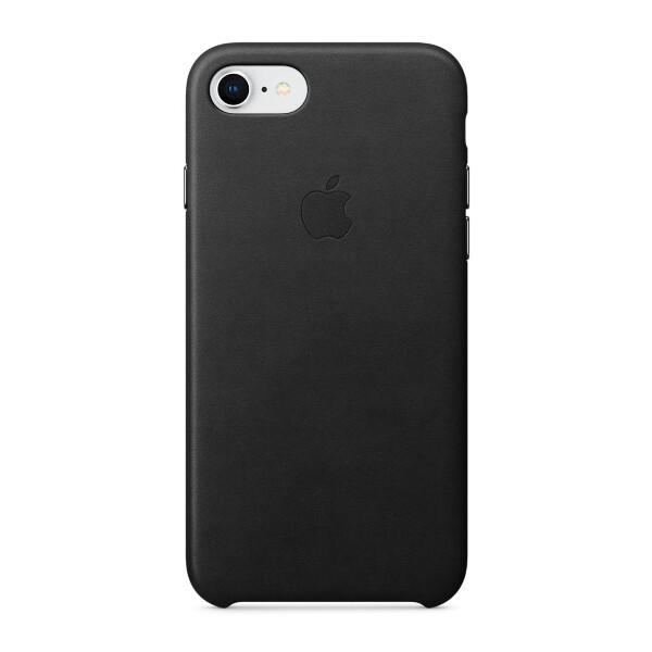 Pouzdro Apple iPhone 7/8 Leather Case černé Černá