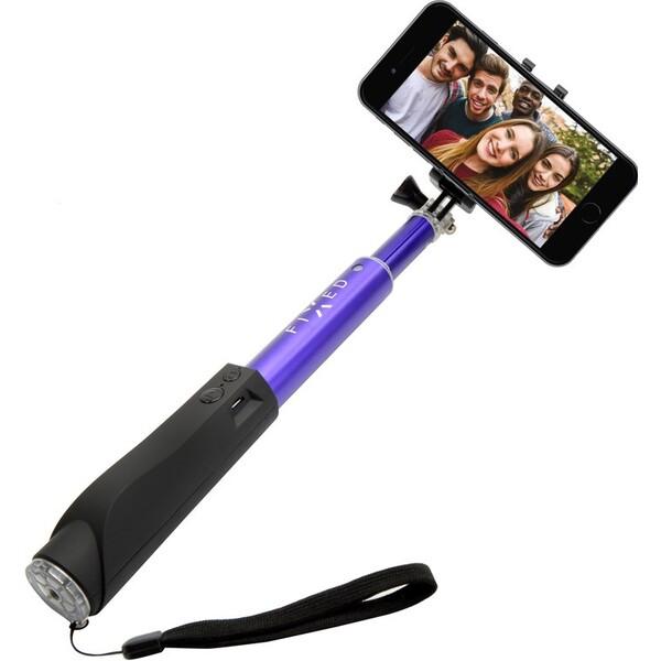 FIXED Bluetooth selfie stick s tlačítkem, fialová FIXSS-BT-BL Modrá
