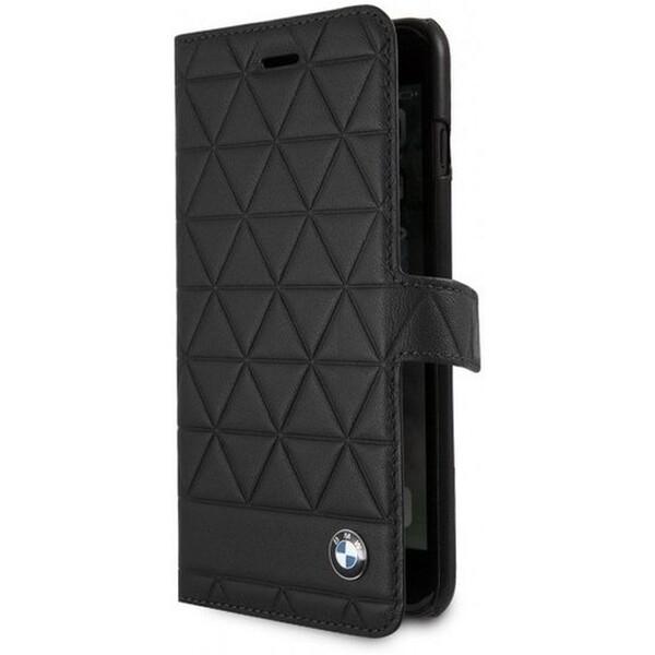BMW BMFLBKI8LHEXBK Hexagon leather Book iPhone 7/8 Plus Černá