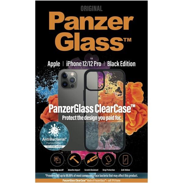 PanzerGlass ClearCase AntiBacterial Black Edition Apple iPhone 12/12 Pro černý