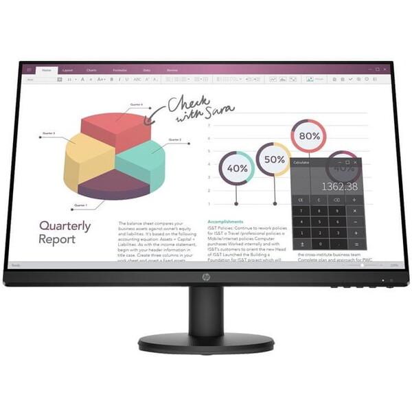 """HP P24v G4 monitor 23,8"""" černý"""
