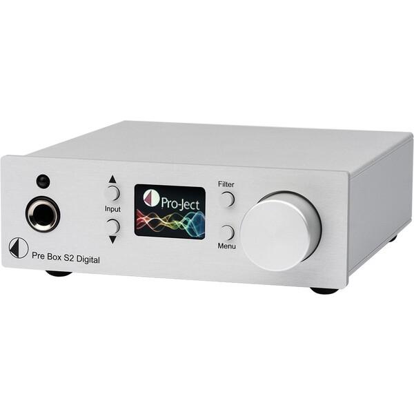 Pro-Ject Pre Box S2 Digital DAC předzesilovač stříbrný