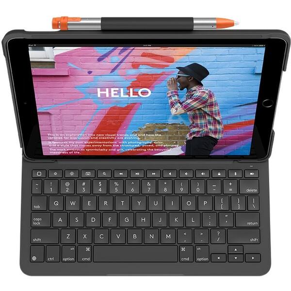 Logitech Slim Folio pouzdro s UK klávesnicí Apple iPad 9,7 černé
