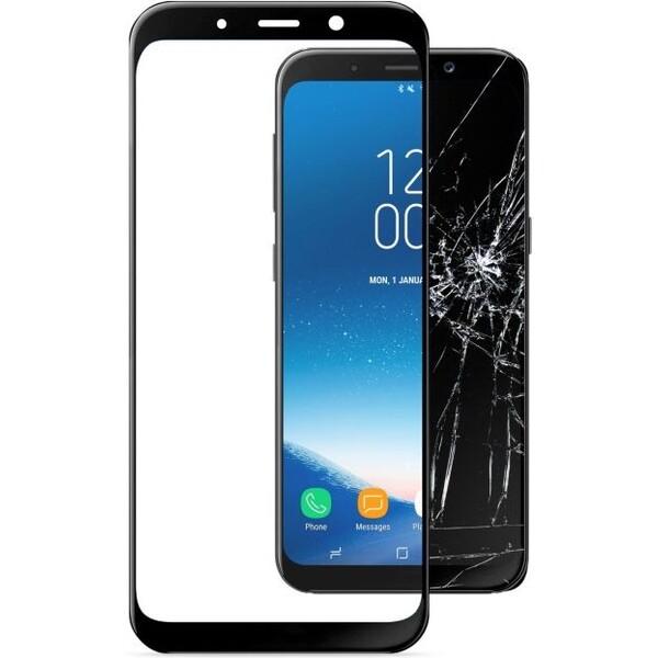 Cellularline CAPSULE 2,5D tvrzené sklo pro celý displej Samsung Galaxy A8 (2018) černé