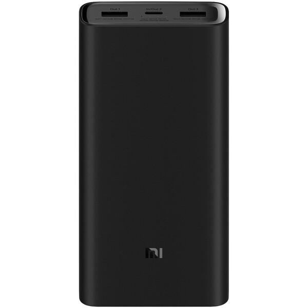 Xiaomi Mi Power Bank 3 Pro s 45W nabíjením 20000mAh černá