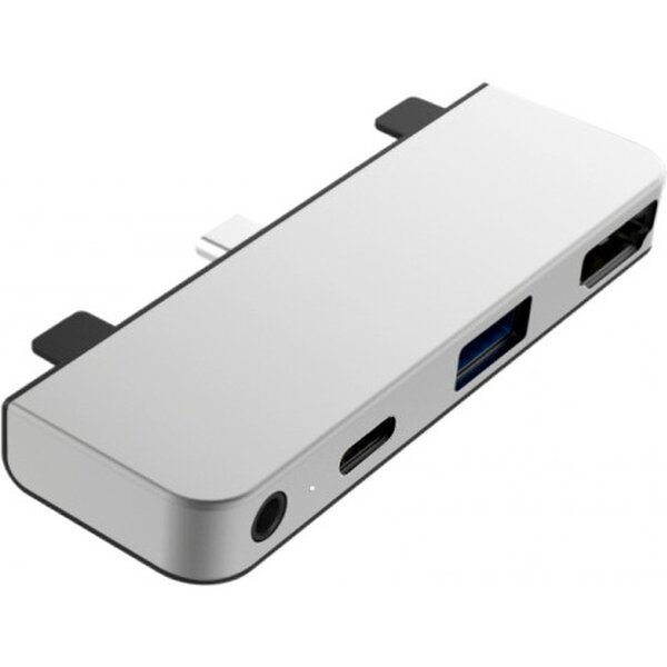 HyperDrive 4 v 1 USB-C Hub iPad Pro 2018 stříbrný