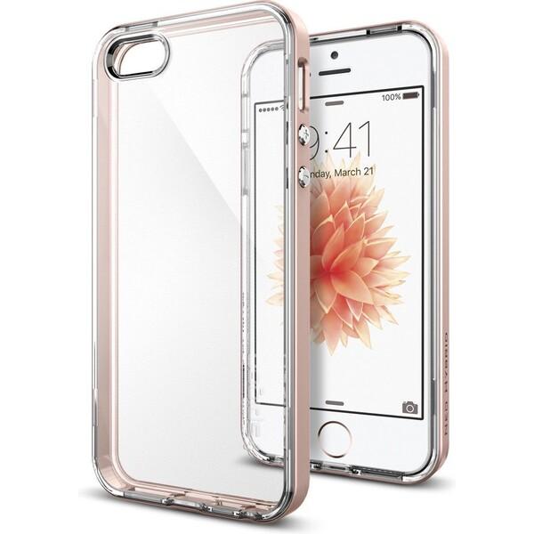 Kryt Spigen Neo Hybrid Crystal,rose gold-iPhone SE / 5s / 5 (041CS20183) Růžová