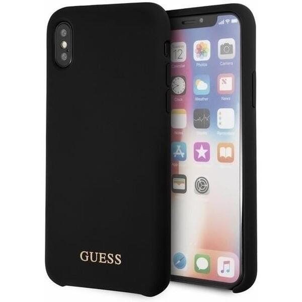 Originální pouzdro na přední kryt GUESS GUHCPXLSGLBK iPhone X Černá