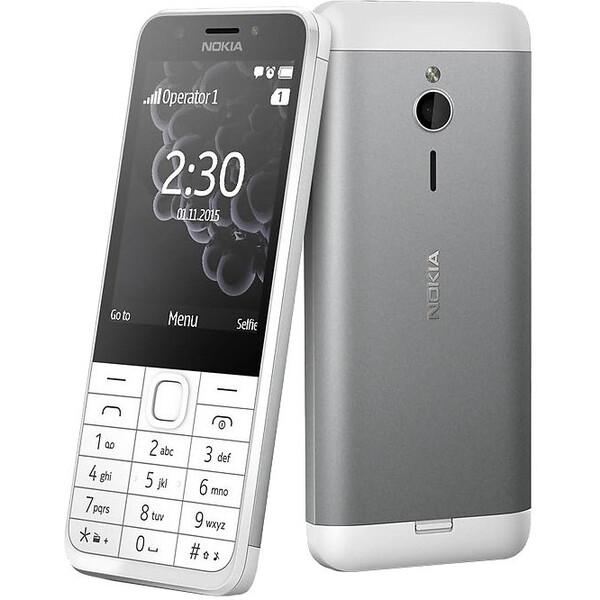 Nokia 230 Dual SIM Stříbrná