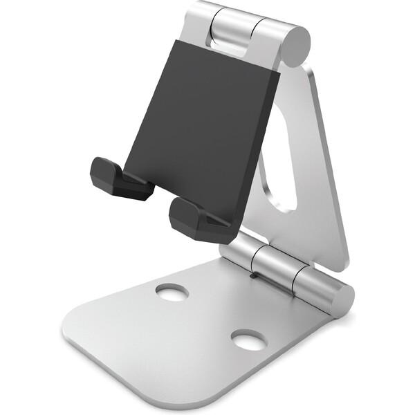 Desire2 univerzální hliníkový stojánek pro mobilní telefony a tablety Stříbrná