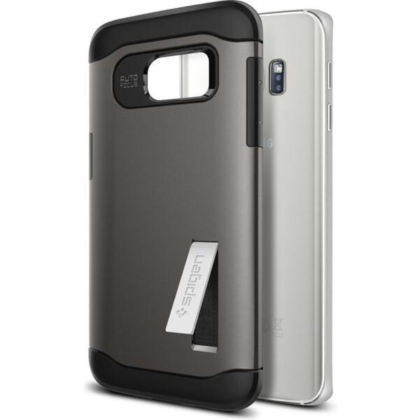 Pouzdro Spigen Slim Armor Galaxy S7 edge šedé Šedá