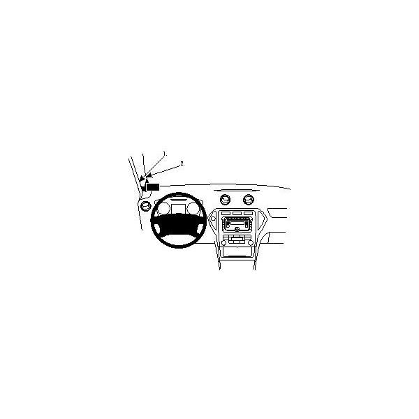 Brodit ProClip montážní konzole pro Ford Mondeo 08-14, vlevo na sloupek 804131 Černá