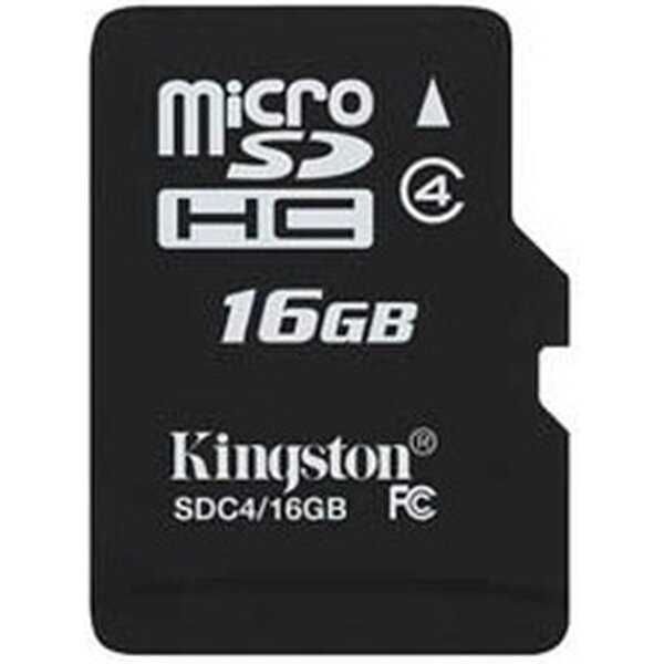 Kingston microSDHC 16GB Class 4 SDC4/16GB Černá