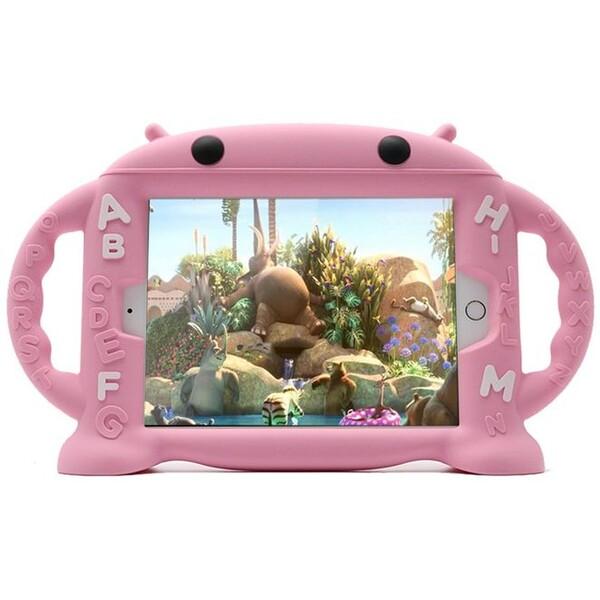 Cartoon Monkey ochranné pouzdro Apple iPad Mini 1/2/3/4 /mini 2019 růžové