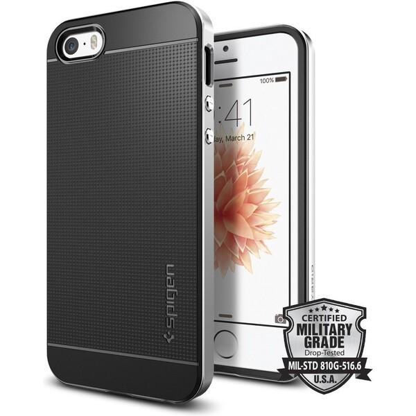 Kryt Spigen Neo Hybrid, satin silver - iPhone SE / 5s / 5 (041CS20185) Stříbrná