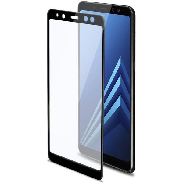 CELLY Glass tvrzené sklo do hran displeje Samsung Galaxy A8 (2018) černé 3DGLASS705BK Černá