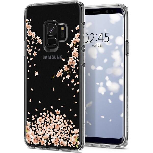 Pouzdro SPIGEN Liquid Crystal Samsung Galaxy S9 blossom 592CS22827 Čirá