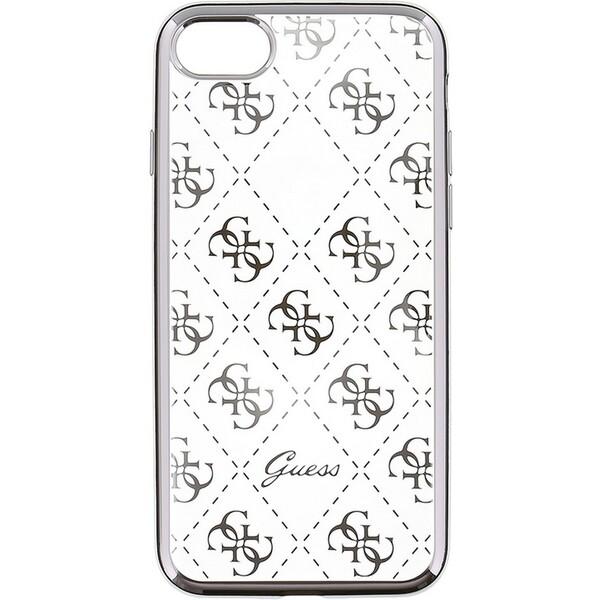 Pouzdro Guess 4G iPhone 6/6S stříbrné Stříbrná