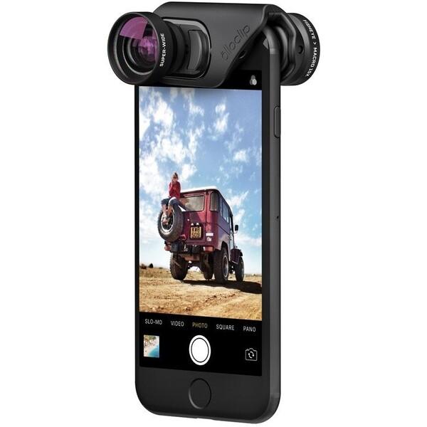 Olloclip core lens + 2 cases, black/black - i7/i7+ OC-0000216-EU Černá