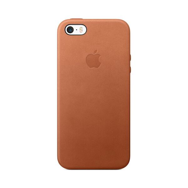Pouzdro Apple Leather Case iPhone SE - sedlově hnědé mnyw2zm/a Sedlově hnědá