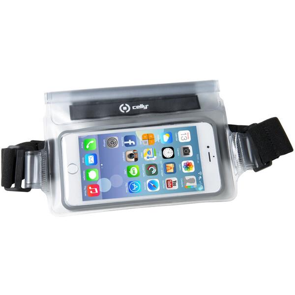 """Pouzdro CELLY Splash Belt telefony 5,7 """" bílé Bílá"""