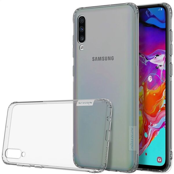 Nillkin Nature TPU pouzdro Samsung Galaxy A70 šedé