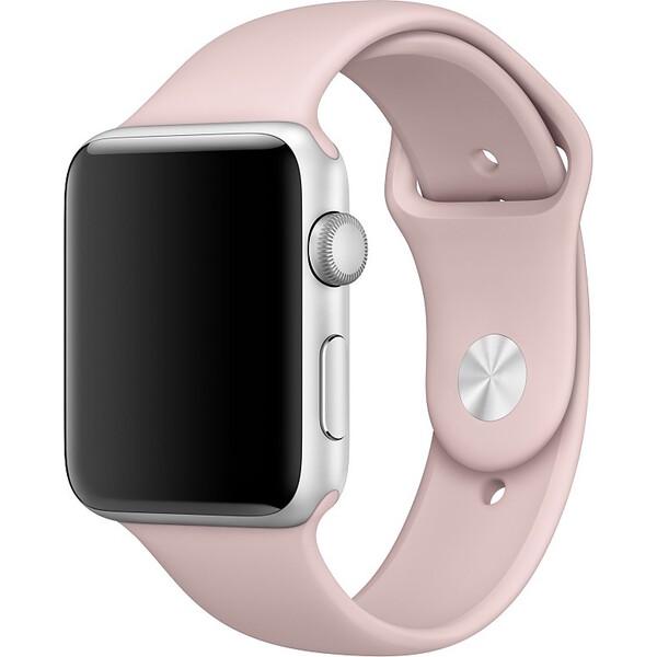 Apple Watch sportovní řemínek 42mm Pískově Růžová