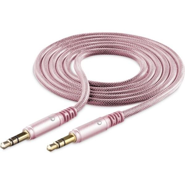 Cellularline Unique Design audio kabel 3,5mm jack pro iPhone růžovozlatý Růžově zlatá