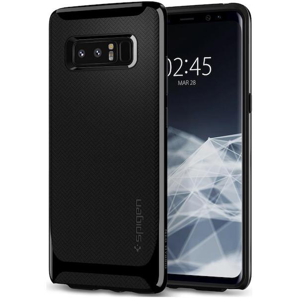 Pouzdro Spigen Neo Hybrid Galaxy Note 8 shiny černé Černá