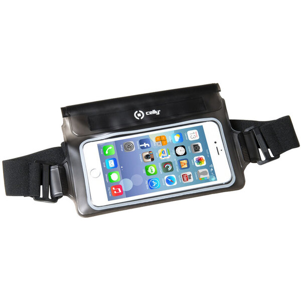 """Pouzdro CELLY Splash Belt telefony 5,7 """" černé Černá"""