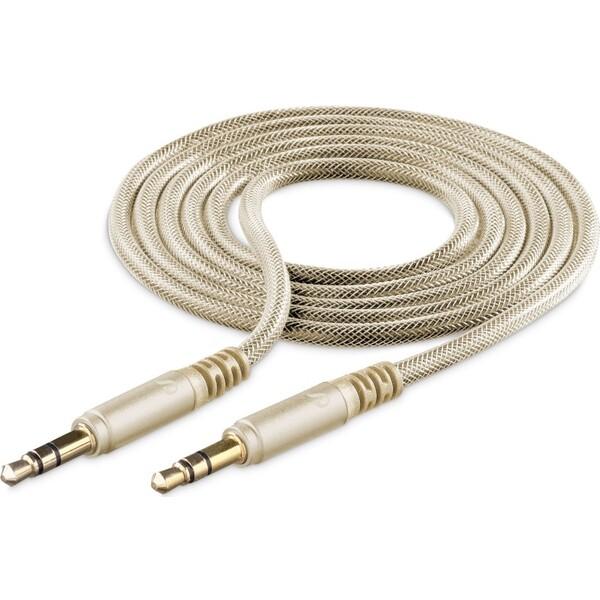 Cellularline Unique Design audio kabel 3,5mm jack pro iPhone zlatý Zlatá